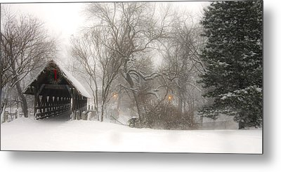 Let It Snow Metal Print by Andrew Soundarajan
