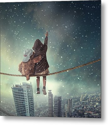 Let It Snow Metal Print by Hardibudi