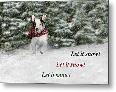 Let It Snow Metal Print by Shelley Neff