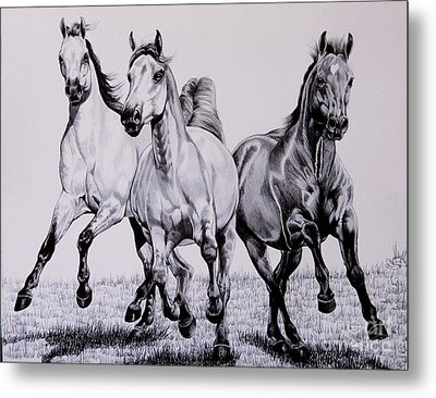 Let The Dinner Bell Ring Metal Print by Cheryl Poland