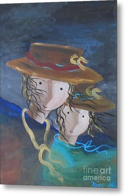 Metal Print featuring the painting Let The Wind Blow by Nereida Rodriguez
