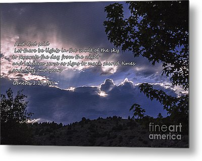Let There Be Light Metal Print by Janice Rae Pariza