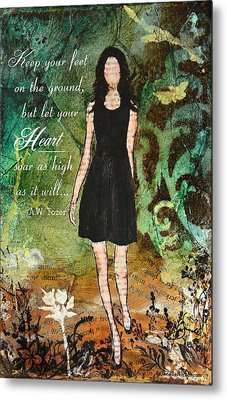 Let Your Heart Soar Metal Print by Janelle Nichol