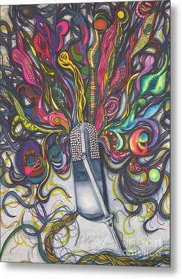 Let Your Music Flow In Harmony Metal Print by Chrisann Ellis