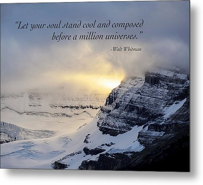 Let Your Soul Stand Cool Metal Print by Mary Lee Dereske
