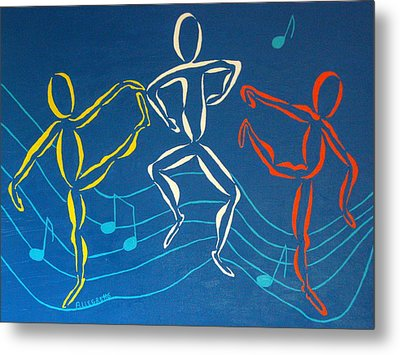 Let's Dance Metal Print by Pamela Allegretto