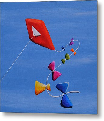 Let's Go Fly A Kite Metal Print by Cindy Thornton