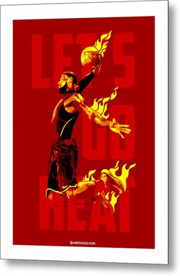 Lets Go Heat Metal Print by Toxico