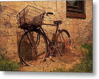 Let's Go Ride A Bike Metal Print