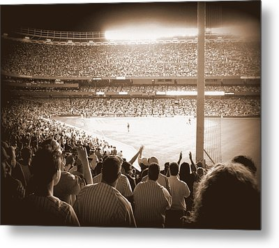 Let's Go Yanks Metal Print