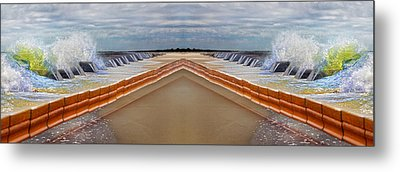 Let's Meet At Middle C Metal Print by Betsy Knapp