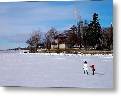 Let's Skate Way Out There Metal Print by Paul Wash