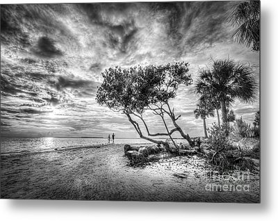 Let's Stay Here Forever Bw Metal Print by Marvin Spates