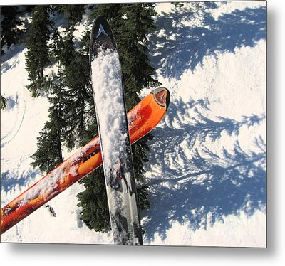 Lets Toast Our Skis Together Metal Print by Kym Backland