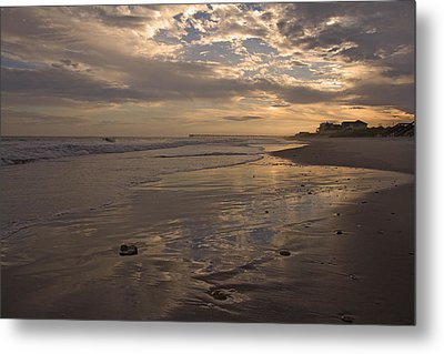 Let's Walk This Evening Metal Print by Betsy Knapp