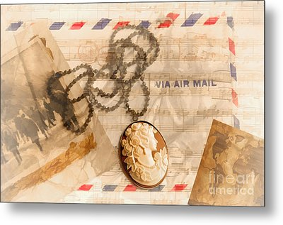 Letter From Home Metal Print