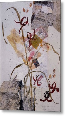 Metal Print featuring the painting Letter From Yasuko by Elaine Elliott