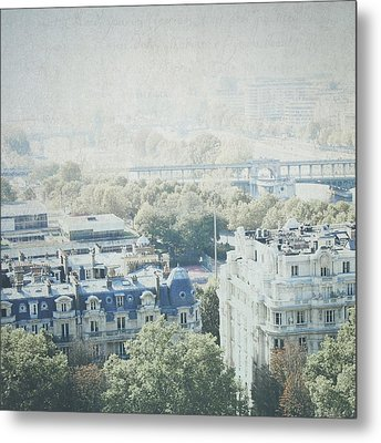 Letters From The Seine - Paris Metal Print