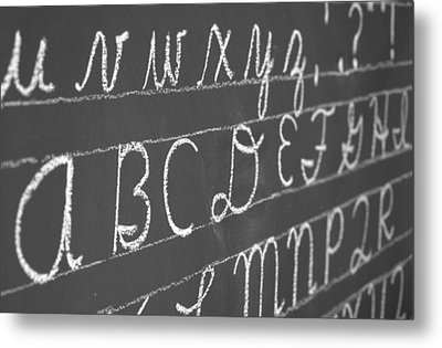 Letters On A Chalkboard Metal Print