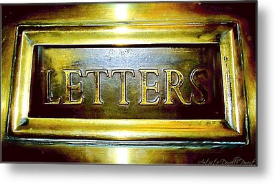 Letters Trough The Door Metal Print by Danielle  Parent