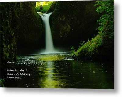 Letting The Calm Metal Print by Jeff Swan