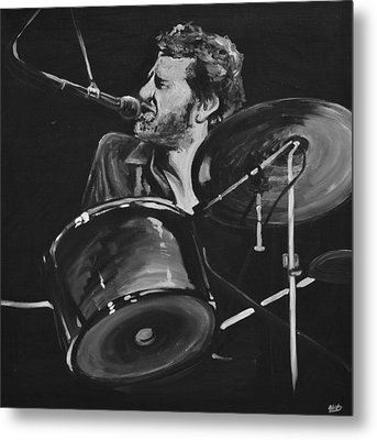 Levon Helm At Drums Metal Print by Melissa O'Brien