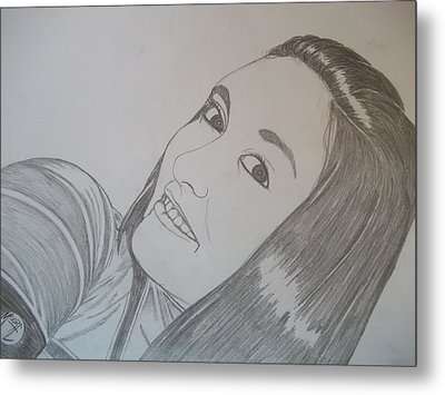 Metal Print featuring the drawing Lexi by Justin Moore