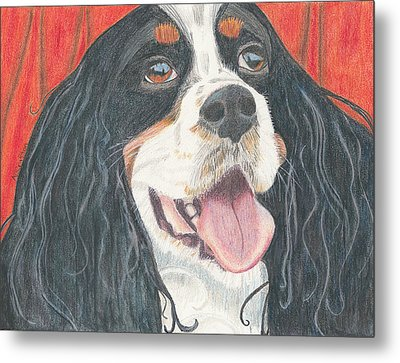 Metal Print featuring the drawing Lexie by Arlene Crafton