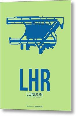 Lhr London Airport Poster 2 Metal Print