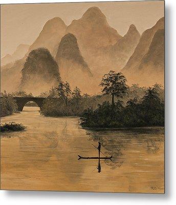 Li River China Metal Print by Darice Machel McGuire
