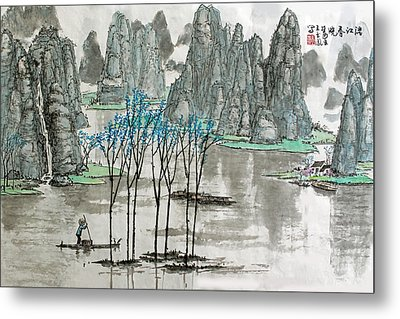 Li River In Spring Metal Print