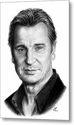 Liam Neeson Metal Print by Andrew Read