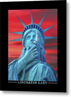 Liberated Lady Metal Print by Mike McGlothlen