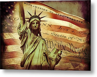 Declaration Of Independence Metal Print