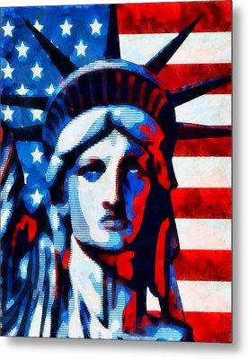 Liberty 2 Metal Print by Angelina Vick