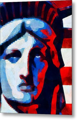 Liberty 3 Metal Print by Angelina Vick
