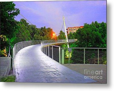 Liberty Bridge In Downtown Greenville Sc At Sunrise Metal Print