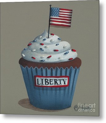 Liberty Cupcake Metal Print by Catherine Holman