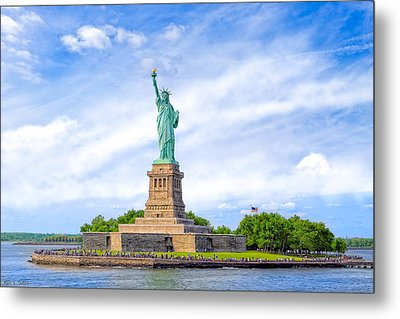 Liberty Enlightening The World - New York City Metal Print by Mark E Tisdale