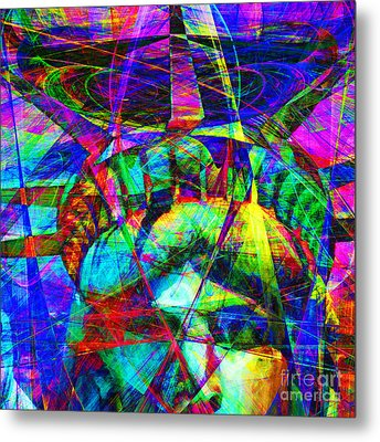 Liberty Head Abstract 20130618 Square Metal Print by Wingsdomain Art and Photography