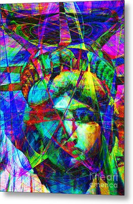 Liberty Head Abstract 20130618 Metal Print by Wingsdomain Art and Photography