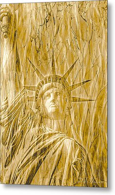 Metal Print featuring the photograph Liberty Is Golden by Dyle   Warren