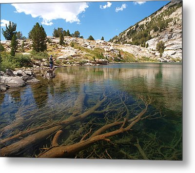 Metal Print featuring the photograph Fly Fishing Liberty Lake by Jenessa Rahn