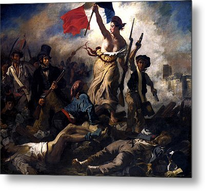 Liberty Leading The People During The French Revolution Metal Print by War Is Hell Store