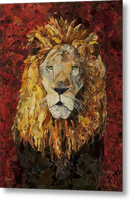 Liberty Lion Metal Print by Claire Muller