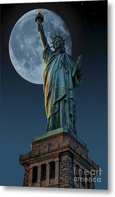 Liberty Moon Metal Print by Steve Purnell