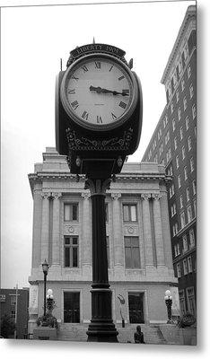 Liberty Mutual Clock Metal Print