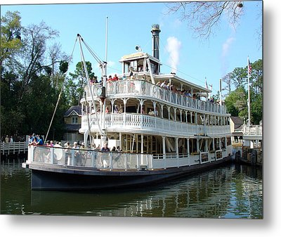 Metal Print featuring the photograph Liberty Riverboat by David Nicholls