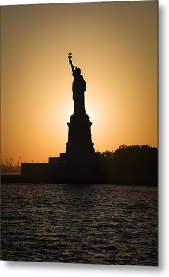 Liberty Sunset Metal Print by Dave Bowman