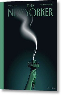 Liberty's Flameout Metal Print